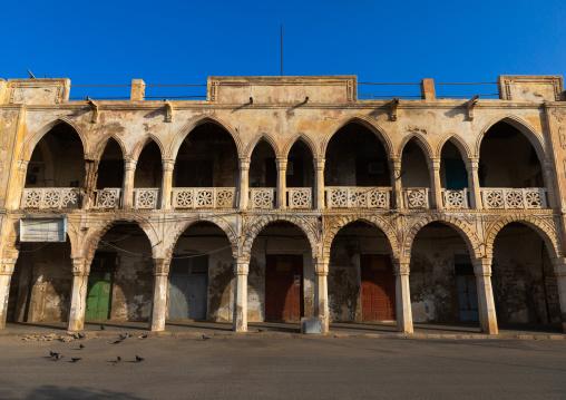 Old ottoman architecture building, Northern Red Sea, Massawa, Eritrea