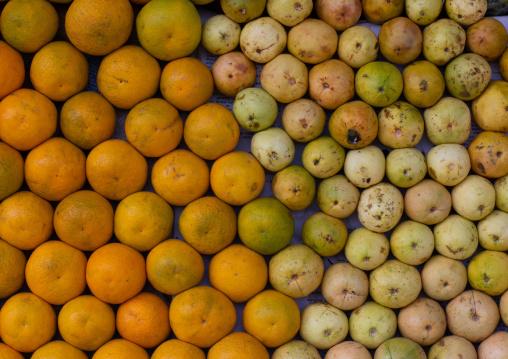 Oranges and guavas in the fruits market, Central region, Asmara, Eritrea