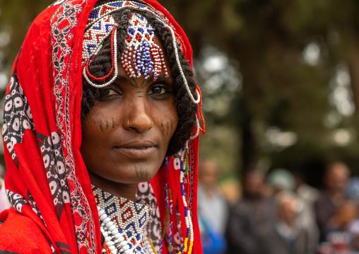 Afar tribe woman during expo festival, Central region, Asmara, Eritrea