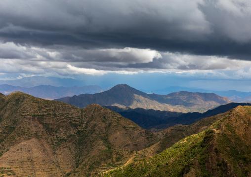 Storm clouds in the highlands, Central region, Asmara, Eritrea