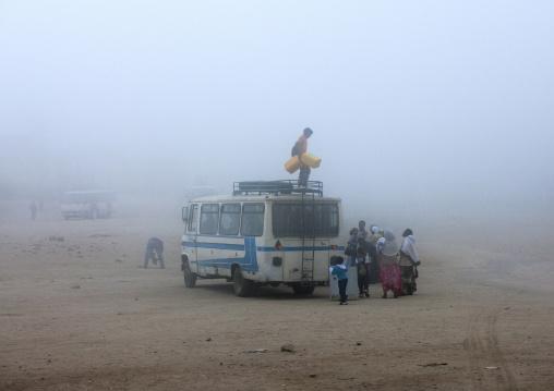 Bus In The Fog, Debub, Senafe, Eritrea