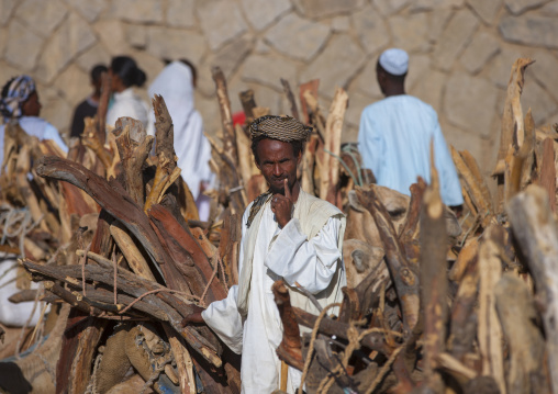 Man At Monday Camel Market, Anseba, Keren, Eritrea