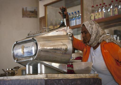 Old Expresso Machine In A Bar, Anseba, Keren, Eritrea
