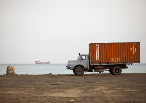 Truck On The Seaside, Northern Red Sea, Massawa, Eritrea