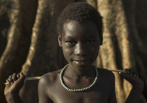 Anuak Child Boy In Abobo, The Former Anuak King Village, Gambela Region, Ethiopia