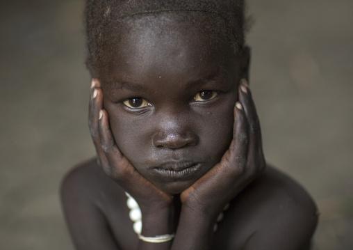 Nuer Tribe Little Girl, Gambela, Ethiopia