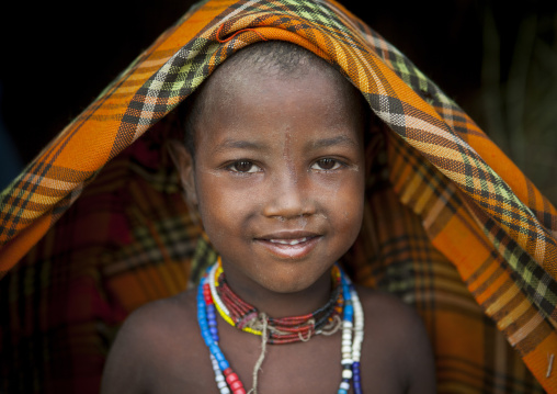 Erbore Tribe Girl, Weito, Omo Valley, Ethiopia
