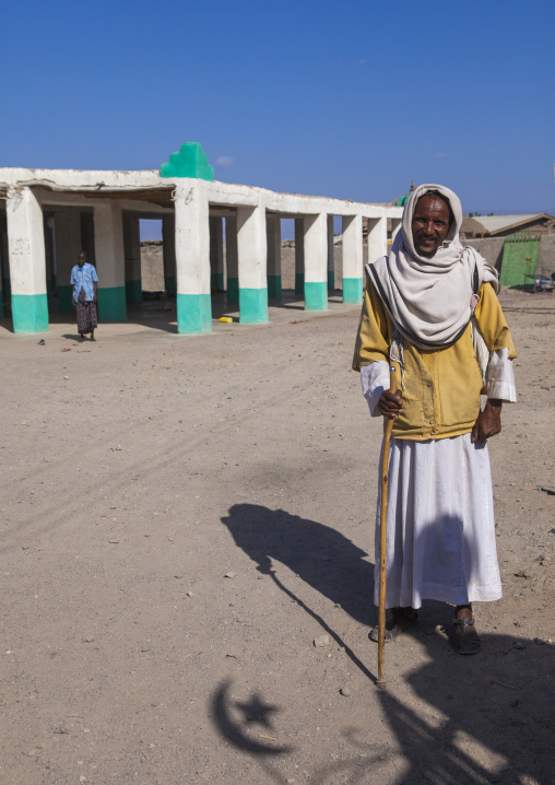 Old Man In Front Of The Big Mosque, Assaita, Afar Regional State, Ethiopia