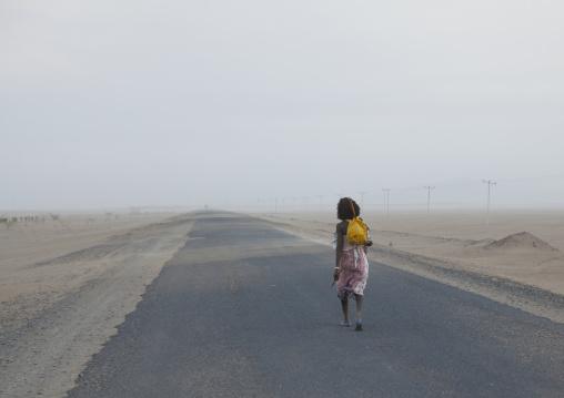 Afar Tribe Man Alone Along A Road, Assayta, Ethiopia