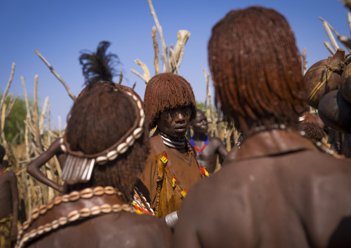 Mourning Ceremony In Hamer Tribe, Turmi, Omo Valley, Ethiopia