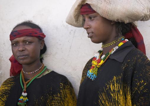 Harari Women In Traditional Costume, Harar, Ethiopia