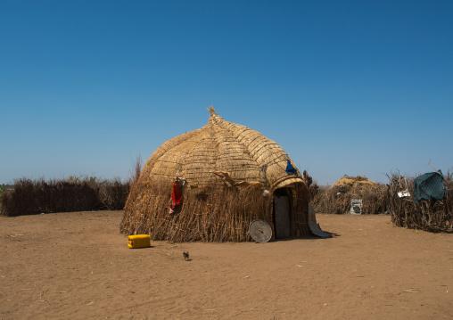 Traditional nyangatom and toposa tribes village, Omo valley, Kangate, Ethiopia