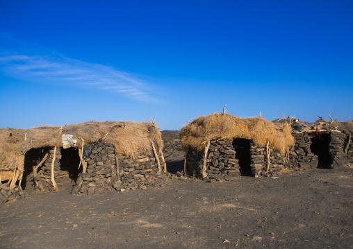 Afar village near the volcano, Afar region, Erta ale, Ethiopia