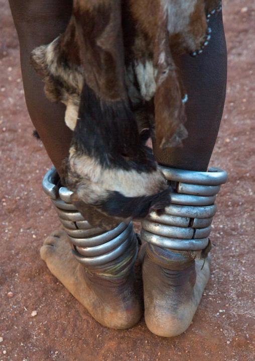 Iron anklets of a hamer woman, Omo valley, Turmi, Ethiopia