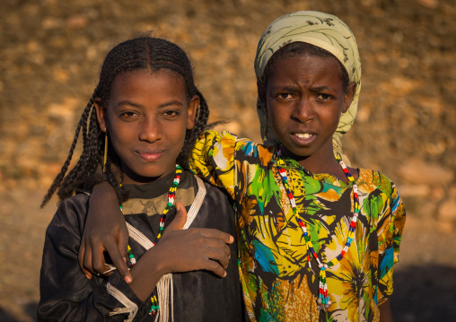 Portrait of two Argoba girls, Harari Region, Koremi, Ethiopia