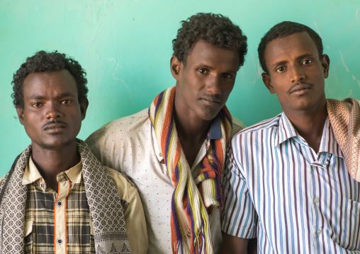 Portrait of ethiopian teachers in a primary school, Afar region, Semera, Ethiopia
