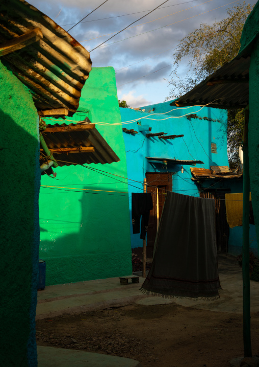 Traditional house in the old town, Harari region, Harar, Ethiopia