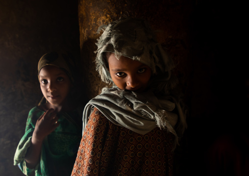Oromo pilgrim girls inside the shrine of sufi Sheikh Hussein , Oromia, Sheik Hussein, Ethiopia