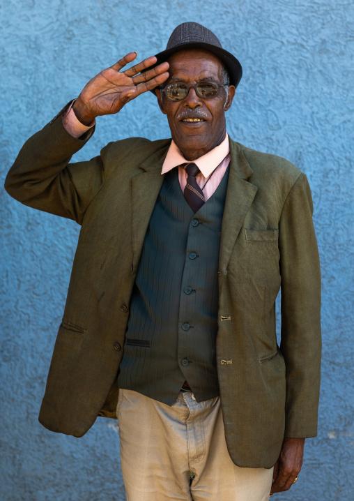 Veteran from the italo-ethiopian war, Addis Abeba region, Addis Ababa, Ethiopia
