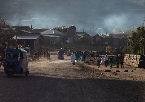 Village activity in the morning, Amhara Region, Lalibela, Ethiopia