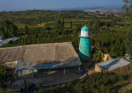 Aerial view of dengogo mosque, Harari Region, Dengogo, Ethiopia
