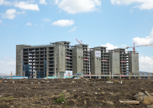 A building under construction in the suburb, Addis Ababa Region, Addis Ababa, Ethiopia