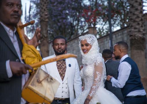 Muslim wedding celebration in the street, Addis Ababa Region, Addis Ababa, Ethiopia