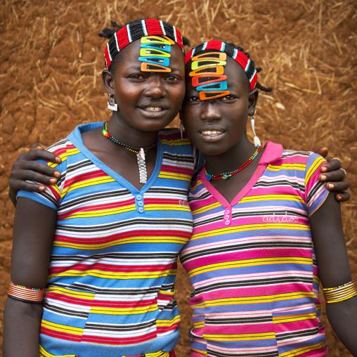 Bana Tribe Girls, Key Afer, Omo Valley, Ethiopia