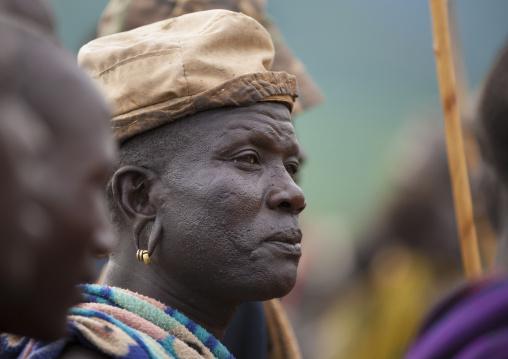 Suri tribe man attending a ceremony, Kibish, Omo valley, Ethiopia