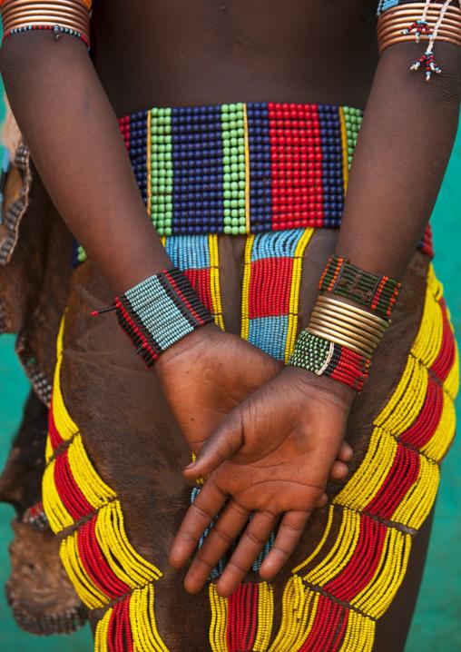Back Of A Hamar Tribe Woman, Turmi, Omo Valley, Ethiopia