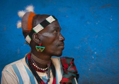 Hamer Tribe Man, Dimeka, Ommo Valley, Ethiopia