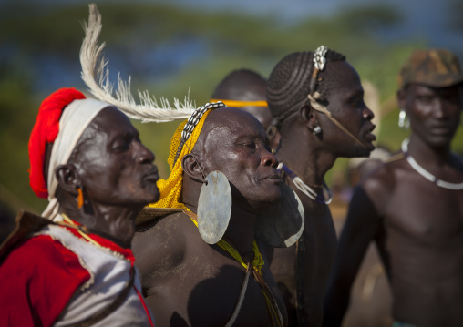 Bodi Tribe Man With Giant Earring During Kael Ceremony, Hana Mursi, Omo Valley, Ethiopia