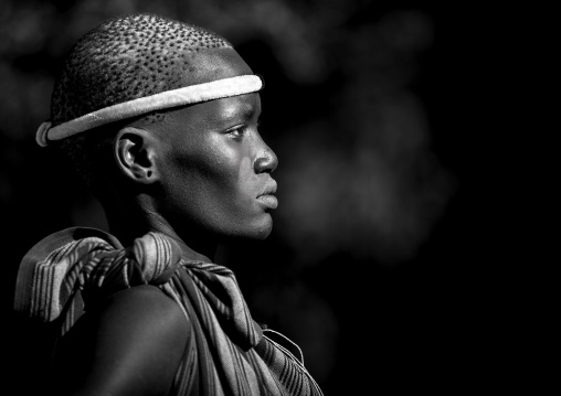 Bodi Tribe Woman, Hana Mursi, Omo Valley, Ethiopia