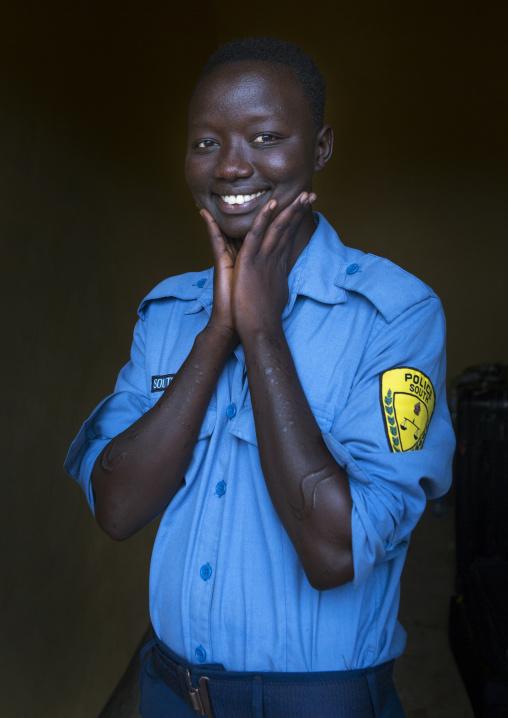 Miss Anna, A Police Woman, Hana Mursi, Omo Valley, Ethiopia
