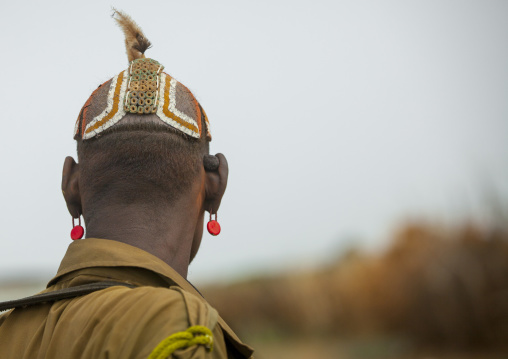 Dassanech Tribe Men With Clay Buns On The Head, Omorate, Omo Valley, Ethiopia