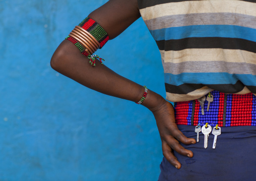Back Of A Hamer Woman, Dimeka, Omo Valley, Ethiopia
