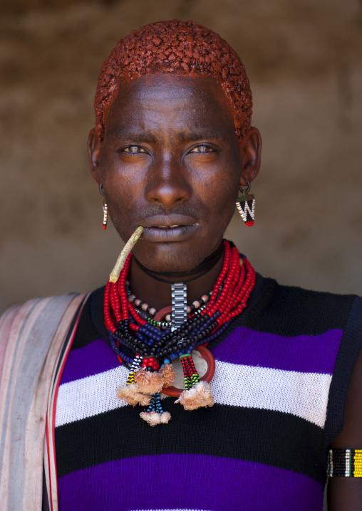 Hamer Man With Red Hair,turmi, Omo Valley, Ethiopia