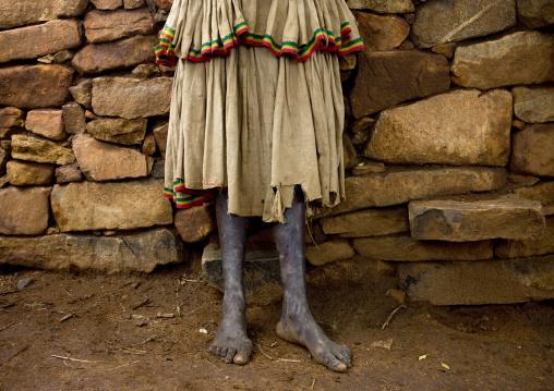Traditional Konso Tribe Skirt, Omo Valley, Ethiopia