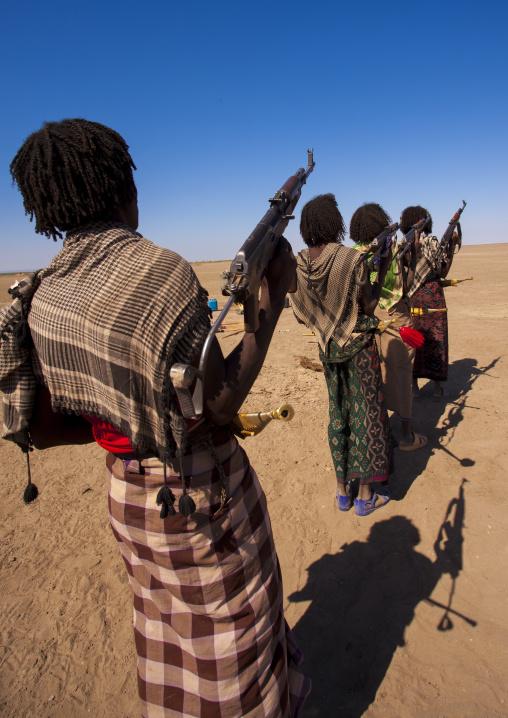 Afar tribe warriors, Assaita, Afar regional state, Ethiopia