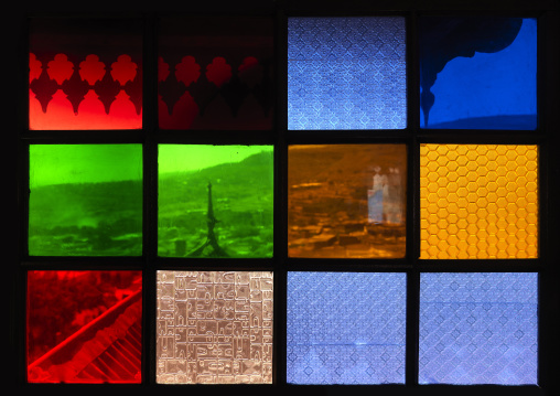 Detail Of Stained Glass Windows In Rambaud House, Harar, Ethiopia