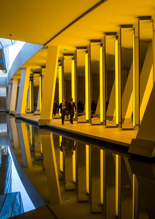Inside The Horizon Piece By Danish Icelandic Artist Olafur Eliasson In Louis Vuitton Foundation, Bois De Boulogne, Paris, France