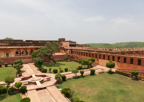 Charbagh garden at Jaigarh fort, Rajasthan, Amer, India