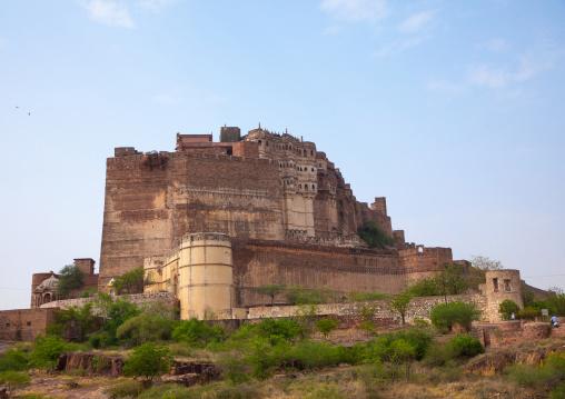 Mehrangarh fort on the hill, Rajasthan, Jodhpur, India
