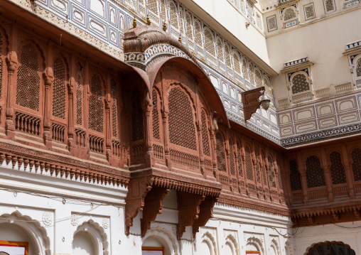 Junagarh fort balcony, Rajasthan, Bikaner, India