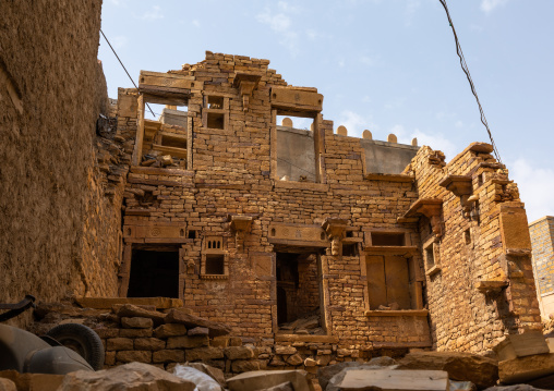 Ruins of an old haveli, Rajasthan, Jaisalmer, India