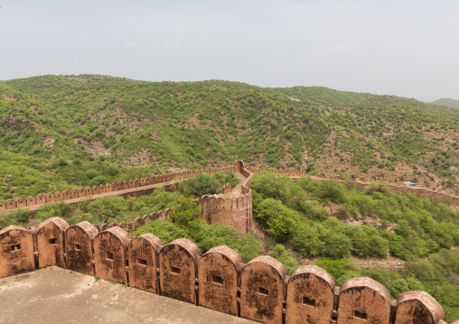 Jaigarh fort remparts, Rajasthan, Amer, India