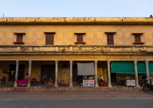Old historic building in the city center, Rajasthan, Jaipur, India