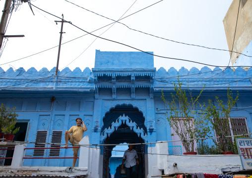 Old blue house of a brahmin, Rajasthan, Jodhpur, India