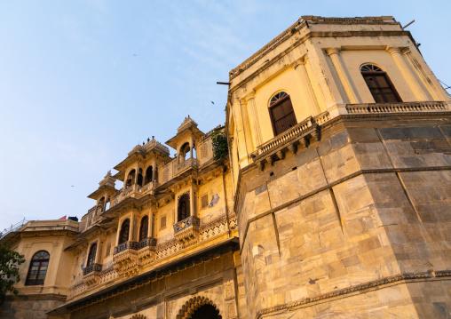 Historic building on Gangaur ghat, Rajasthan, Udaipur, India