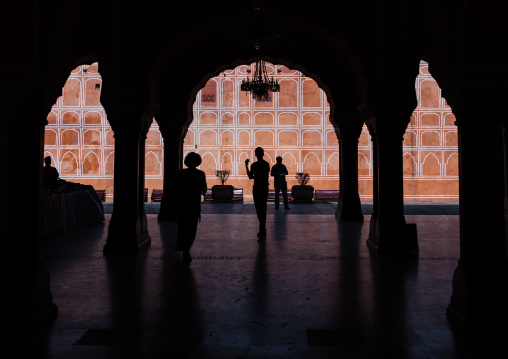 City palace Sarvato Bhadra courtyard, Rajasthan, Jaipur, India